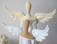 Beautiful two Angel wings made of white and cream cotton fabric. These wings will look amazing on your Tilda doll. Size for wings : 7 cm-2.8 (widest part of wing) x 17cm-6.7 ( longest part of wings) On the wing I can sew a loop for hanging them on the wall. It will be a original