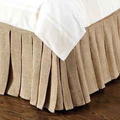 Pleated Burlap Bedskirt
