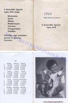 1964 - 1964_0166 - Régi magyar kártyanaptárak Pocket Calendar, Personalized Items, Cards, Pockets, Pocket Diary, Maps, Playing Cards