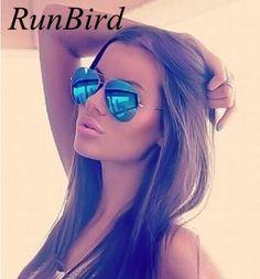 Fashion Men Brand Designer Aviation Sunglasses Women Driving Mirror Glasses Male Sun Glasses Points Oculos De Sol UV400 085 #Affiliate