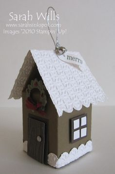 This is one cute ornament - made using Stampin' Up!'s Mini Milk Carton Die & the Big Shot...