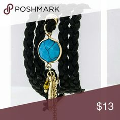 JUST IN: Braided Bracelet NWT Length 35 in, width 1.5 in. Nickel and lead compliant. Jewelry Bracelets