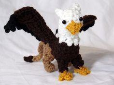 Griffin Mythical Lion Plush Crochet Gaidar by BuggabeeBaubles