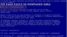 Guide to Fix Page Fault in NonPaged Area in Windows 7, 8, 10