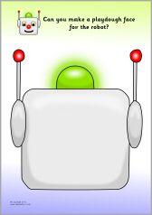 Robots playdough mats (SB8958) - SparkleBox