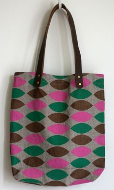 Items similar to SALE - Harlequin Leaves Tote Bag on Etsy 085f284da6