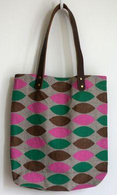 Harlequin Leaves Tote Bag • Jen Hewett • Etsy