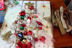 Upcycled Christmas Tree Craft Idea Inspired by Real Simple Magazine :: Hometalk