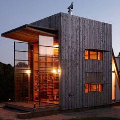 Whangapoua Beach House on Coromandel Peninsula, New Zealand. Designed by Ken Crosson of Crosson Clarke Carnachan Architects