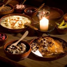 This feast, inspired by food from the Middle Ages, includes, from ...
