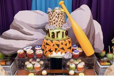 Megan B's Baby Shower / Flintstones - Photo Gallery at Catch My Party Twin Birthday Parties, Birthday Photos, Boy Birthday, Shower Party, Baby Shower Parties, Baby Shower Themes, Fiesta Baby Shower, Baby Shower Cakes, Pebbles And Bam Bam