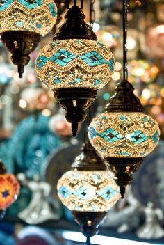 love these Turkish lanterns