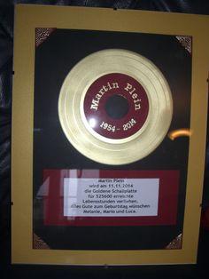 Goldene Schallplatte Music Instruments, Vinyl Records, Diy Home Crafts, Diy, Birthday, Life, Christmas, Musical Instruments
