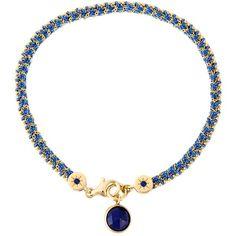 Astley Clarke Lapis Woven Biography Bracelet ($150) ❤ liked on Polyvore featuring jewelry, bracelets, blue, braid jewelry, blue jewelry, blue bracelet, astley clarke and bracelet bangle