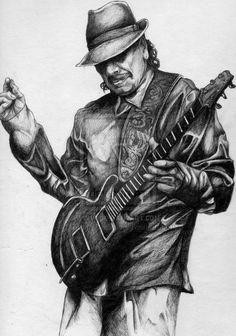 Carlos Santana by Frank-Cadillac
