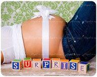 Surprise -Maternity Picture Ideas
