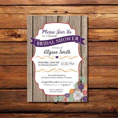 Printable Invitation, Invitation Shower, Wedding, Country Invitation, Barn Floral Invitation, Rustic Invitation, Bridal Shower Invitation