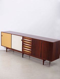 Rosewood and Lacquer Sideboard for Sibast by Arne Vodder. 1960s Furniture, Danish Modern Furniture, Mid Century Modern Furniture, Furniture Styles, Unique Furniture, Home Furniture, Furniture Design, Office Furniture, Mid Century Decor