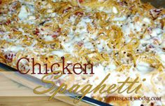 Chicken Spaghetti | This Lady's House