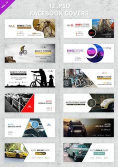 12 Facebook Covers  by UNIK Agency on @creativemarket Page Layout Design, Web Design, Web Banner Design, Web Banners, Graphic Design, Facebook Banner, For Facebook, Social Media Template, Social Media Design