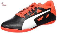 Evospeed 5.5 IT, Chaussures de Football Compétition Homme, Noir Black White-Red Blast 01, 44 EUPuma