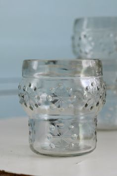 Childhood drinking glasses by glass works Riihimäki, Finland | RIIHIMÄEN LASI-LUMIHIUTALE
