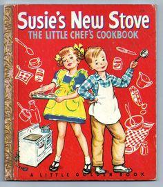 ''Susie's New Stove ~ Little Chef's Cookbook'', illus. Corinne Malvern. 1949 Little Golden Book | eBay
