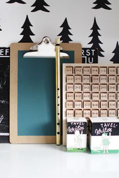 black firs & blue board