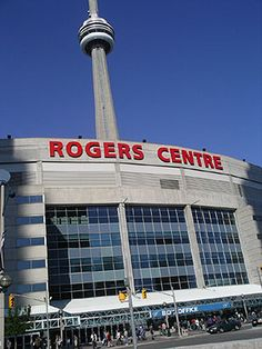 The Rogers Centre is the home of the Toronto Blue Jays. It's a great place to catch a ballgame Toronto Canada, Toronto City, Downtown Toronto, Toronto Travel, Montreal Canada, Baseball Toronto, Blue Jays Game, Rogers Centre, Mlb Stadiums