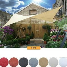 Rectangle/ Square Sun Shade Sail Deluxe UV Top Canopy Shelter Outdoor Patio Lawn #Unicool