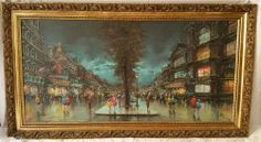 MOULIN ROUGE by ANTONIO DEVITY 1901-1993 OIL PAINTING SIGNED PARIS EARLY 1950s #Impressionism #devity