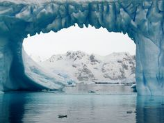 an ice bridge in the south pole...