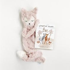 Our Slumberkins Fox is the most snuggly sly creature around. As seen on TLC, with Audrey Roloff featuring the Ultra Plush Fox in Rose. Baby Coming, Fox, Plush, Creatures, Teddy Bear, Animals, Baby On The Way, Animales, Animaux