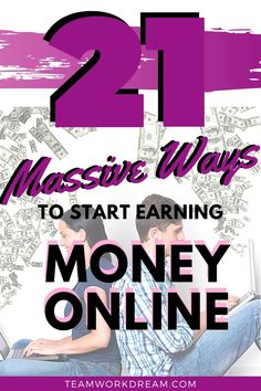 Learn how you can start to make money online with these tried and tested methods. Check out this detailed list of online jobs that you can do to start working from home. You can start earning a full-time income at home by working online. #makemoneyonline #workfromhomeideas #onlinework #workonline #earnmoneyonline #onlinejobs #onlineworkideas #moneymakingideas #moneymakingtips #freelanceejobs #virtualassistant Make Money Fast Online, Earn Money Fast, Ways To Earn Money, Earn Money From Home, Make Money Blogging, Way To Make Money, Legit Online Jobs, Online Work From Home, Making Extra Cash