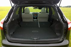 The rear seats in the Nissan Qashqai lie flat when folded, increasing the boot space