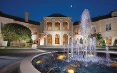 water fountain Stunning French Chateau Style Mansion In Los Angeles | iDesignArch | Interior Design, Architecture & Interior Decorating