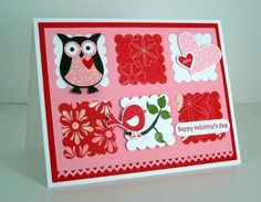 owl valentine? Can't wait to make owl valentines day cards. I love owls.