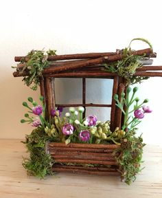 Mini Fairy Window 3 1/2 inch by 3 1/2 inch size add Fairy | Etsy