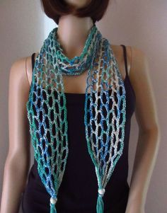 Schmuck Design, Turquoise Necklace, Crochet, Jewelry, Style, Fashion, Jewelry Dish, Beads, Scarves
