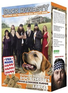 Duck Dynasty Southern Style Recipe Dog Biscuits for Large Dogs -- More infor at the link of image  : Dog treats