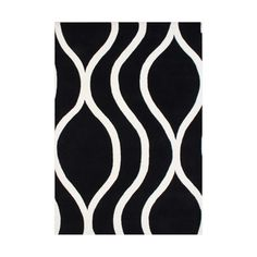 ZnZ Rug Gallery Hand-made Black Wool Rug (5' x 8') | Overstock™ Shopping - Great Deals on 5x8 - 6x9 Rugs