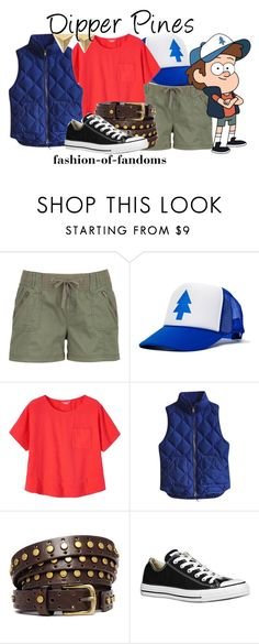 """""""Dipper Pines"""" by fofandoms ❤ liked on Polyvore featuring maurices, Toast, J.Crew, ASOS and Converse"""