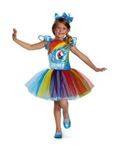 Disguise Hasbro's My Lil' Pony Rainbow Dash Tutu Prestige Girls Costume, Medium/7-8