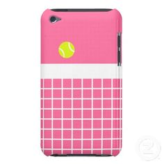 Adorable pink tennis iPhone case! -ahh, need this!!