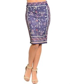Purple Paisley Skirt