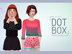 'Dot box'  Found in TSR Category 'Sims 4 Female Everyday'