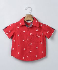 Look what I found on #zulily! Red Anchor Button-Up - Infant, Toddler & Boys #zulilyfinds