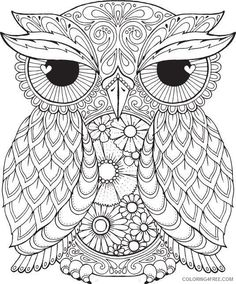 Owl Mandala Coloring Pages For Adults Coloring4free