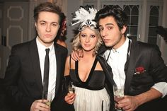 Andy Taylor's son Andrew Jr. and Roger Taylor's son James with friend Sarah Johnston at the DD Masked Mayhem Ball in 2010
