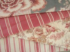 Antique French ticking ~ lovely faded, linen and cotton mix ticking ( bottom of photograph Stunning gray mushroom tone ! I love this ticking ~ beautiful heavy weight ~ Ideal for pillows, upholstery etc etc etc!